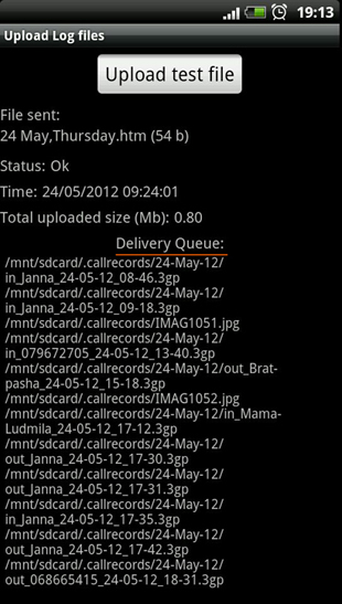 Delivery queque Kidlogger app